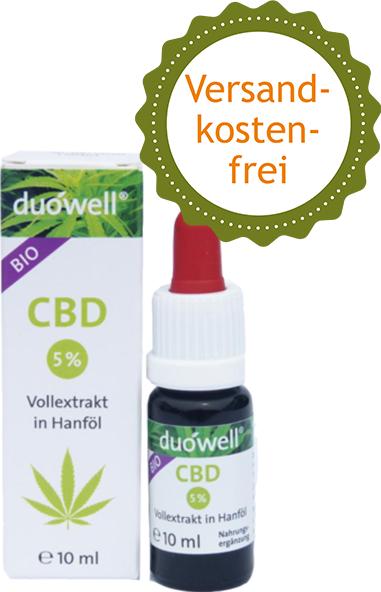 CBD 5 % Vollextrakt in Hanföl duówell